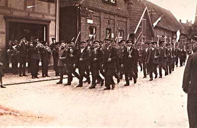 Schützenbruderschaft Südkirchen Festumzug 1925
