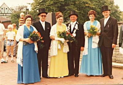 Schützenbruderschaft Südkirchen Hofstaat 1974