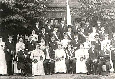 Schützenbruderschaft Südkirchen Hofstaat 1911